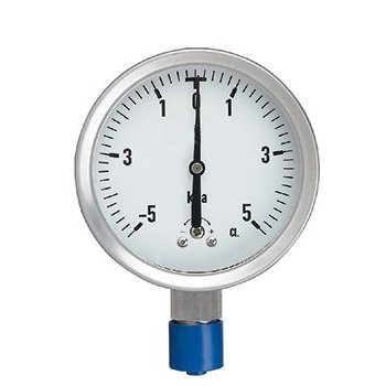 Stainless steel low pressure gauge