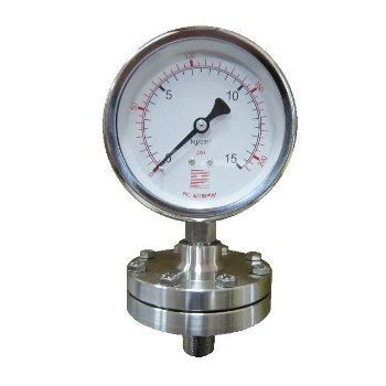 Diaphragm sealed pressure gauge (Threaded type)