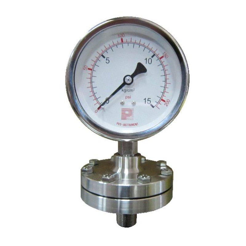 Diaphragm sealed pressure gauge (Threaded type)