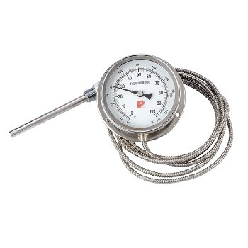 Stainless steel capillary thermometer