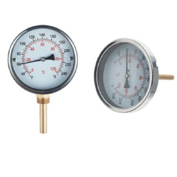 Hot water pipe thermometer