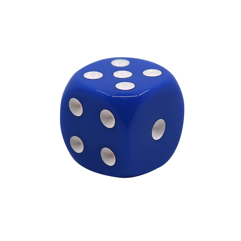 Opaque 6 Sided Dice with Round Corner