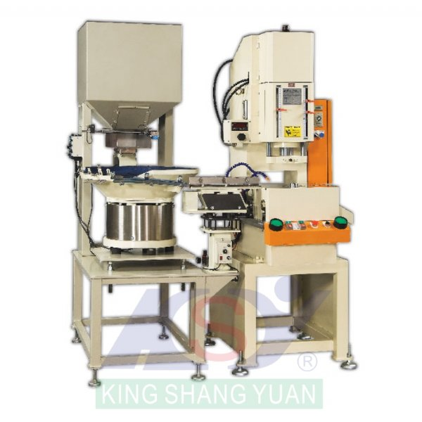 Hydraulic Press for lock nuts notches and assembly