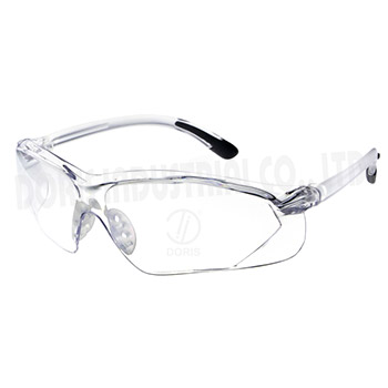 Wrap around clear safety glasses