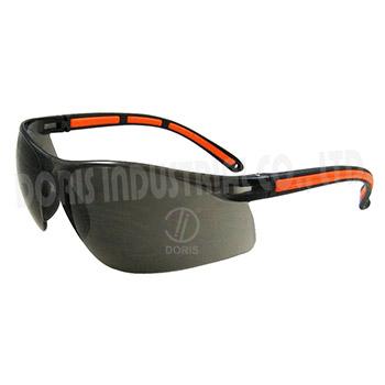 One piece safety eyewear
