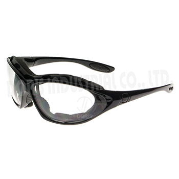 Full frame safety glasses / goggles with replaceable temples and straps