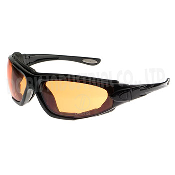 Full frame safety eyewear / goggles with replaceable straps and temples