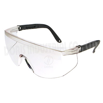 Frameless spectacles with side shield
