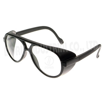 Protective spectacles with nylon frame / temple