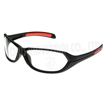 Full frame anti fog safety glasses with rubber temple tips