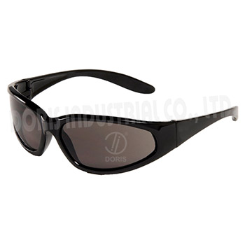 Full frame sunglasses with slim lined temples