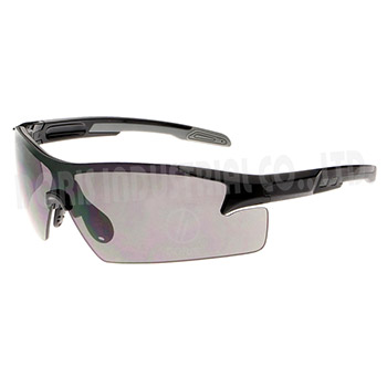 Half frame safety eyewear with extensive eye coverage