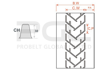 Chevron Profile Belt