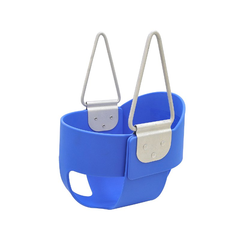 Plastic Full Bucket Toddler Swing Seats with High Rest Back