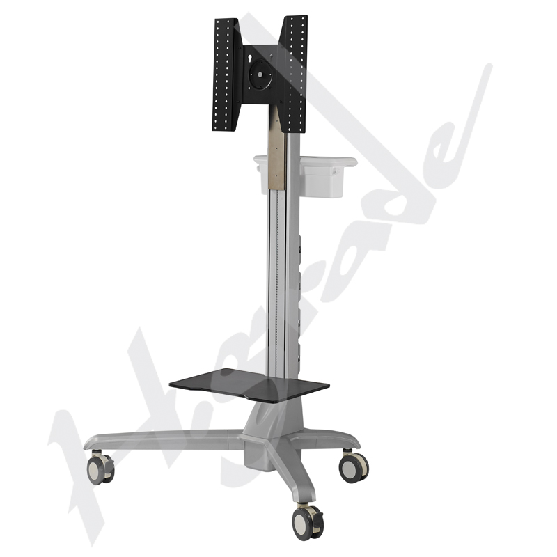 Electrical Lift Conference Mobile Display Trolley Cart with vesa 400x400 - Highgrade Tech. Co., Ltd. y
