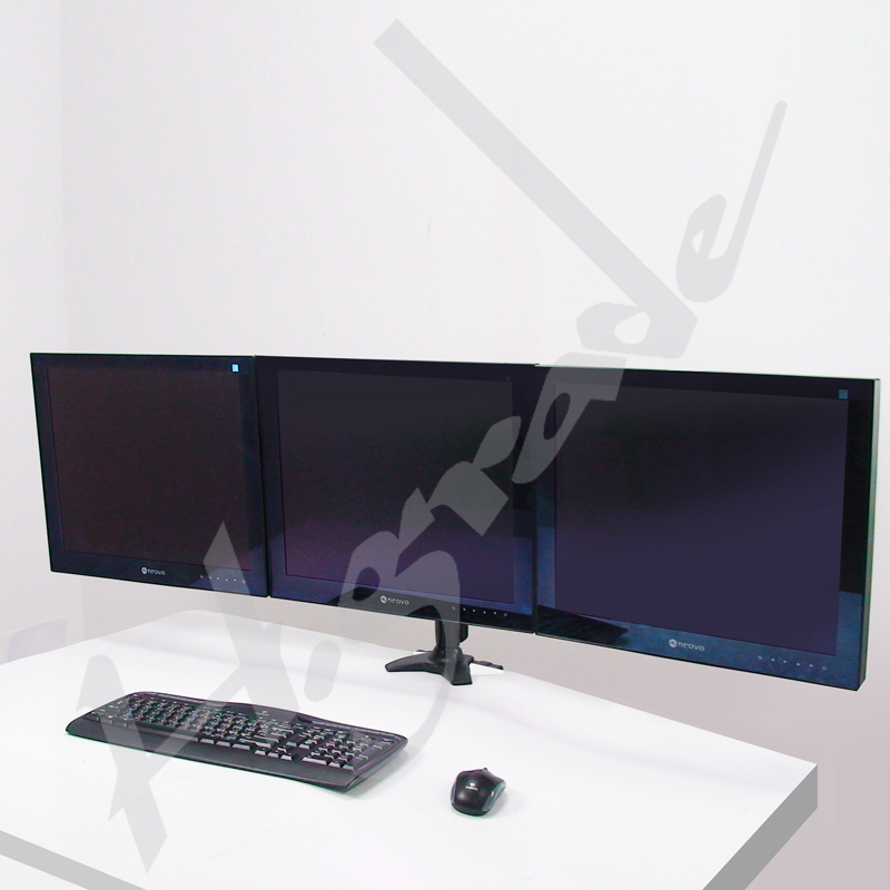 Multi Mounts - Gaming Triple Ergonomic LCD Desk Mount