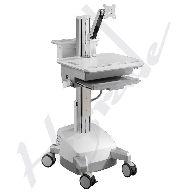 Mobile Workstation Trolley Cart for HealthCare/Medical IT - with SLA batteries and LCD ARM to support single monitor
