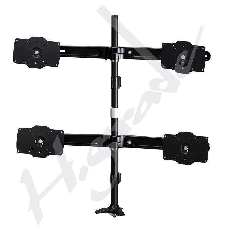 Multi Mounts - Large Quad LCD Monitor Stand - VESA 200 x 100