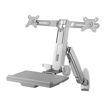Sit-Stand Spring Arm Desk Mount Computer Workstation Combo System