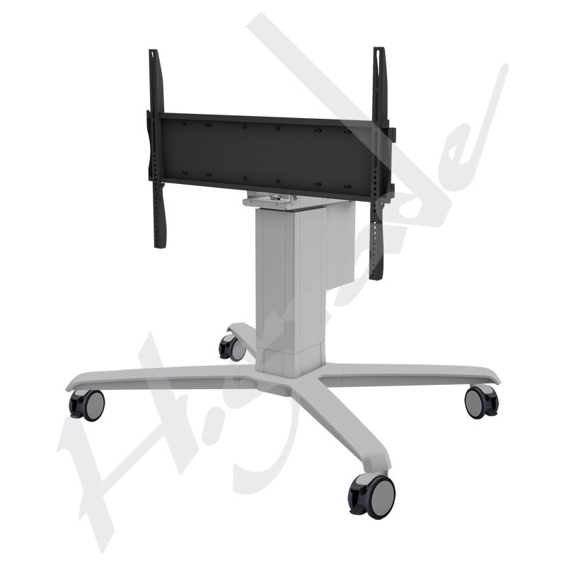 Mobile Trolley Cart with Motorized (Electrical) LIFT and Flat Mount for Large Format e-Touch Interactive Display