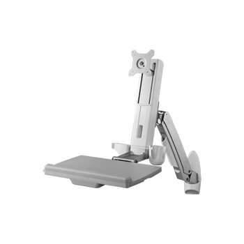 Sit-Stand Wall Mount Workstation Combo System