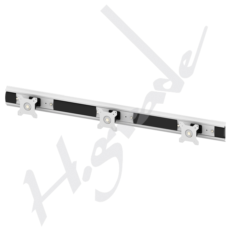 "24"" Triple Monitor Full Motion Multi LCD Video TV Wall Ceiling Mount"