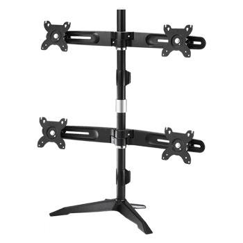 Multiple stand series - Ultra Slim Quad LCD / LED Desk Mount