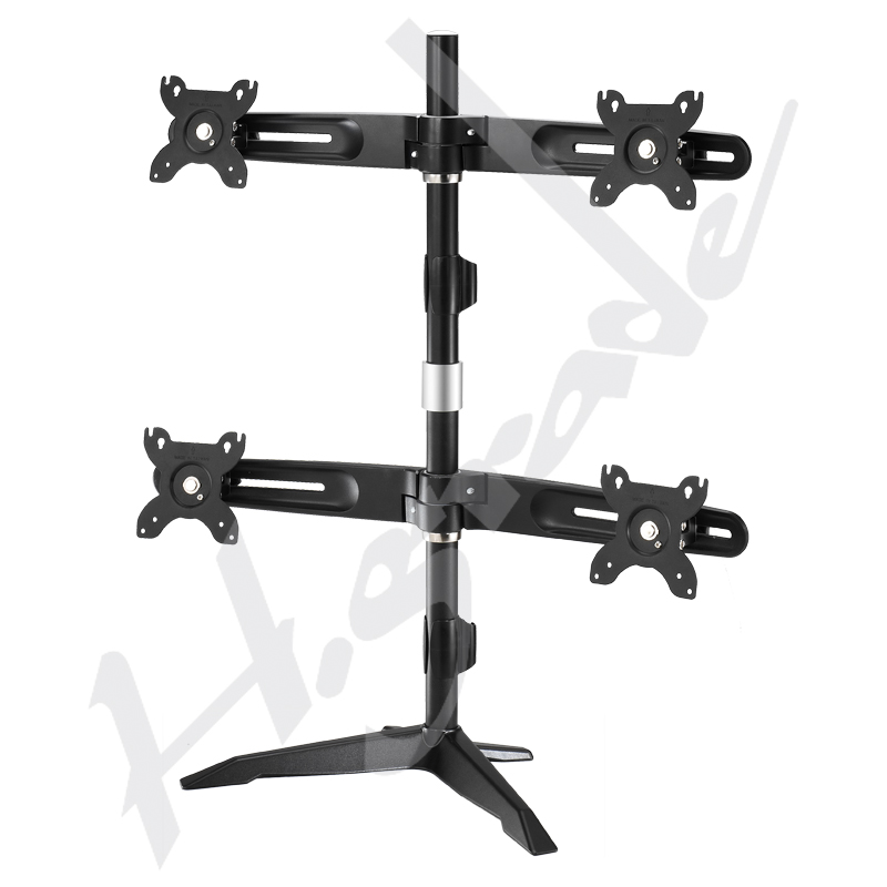 Multiple stand series - Ultra Slim Quad LCD / LED Desk Mount