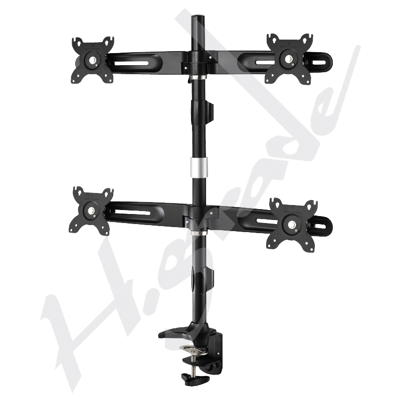 Multiple Stand Series - Ultra Slim Quad LCD / LED Monitor Stand - Clamp base