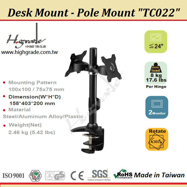 Multi Mounts - Dual LCD Monitor Stand