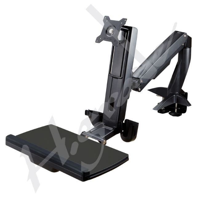 WST10-Sit-Stand Spring Arm Desk Mount Computer System_Highgrade