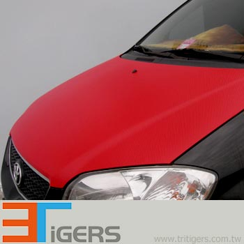 3D carbon fiber auto vinyl wrapping films (red)