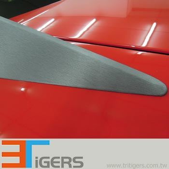 PVC titanium brushed metallic sticker for vehicles
