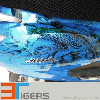 car paint PVC vinyl stickers (navy)