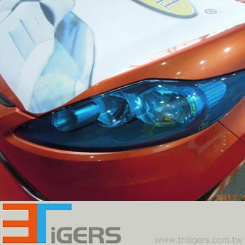 headlight & taillight protection PVC (transparent yellow)