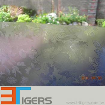 flower pattern privacy PVC building film for windows
