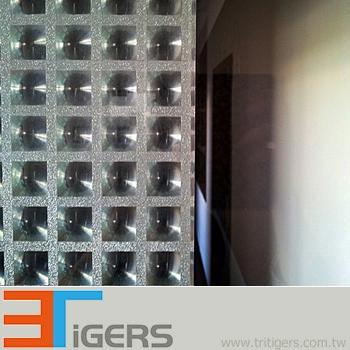 3D square cut glass deco privacy window film