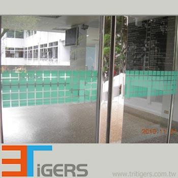 green square plastic film for windows