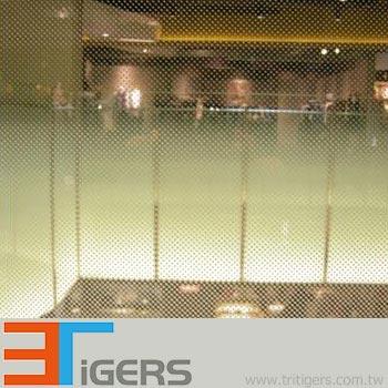 glass film wl white dots in gradually level (PET)