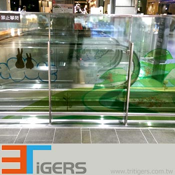 window graphics film, clear self adhesive pvc for digital printing