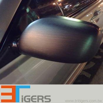 Brushed metallic PVC car sticker (aluminum)