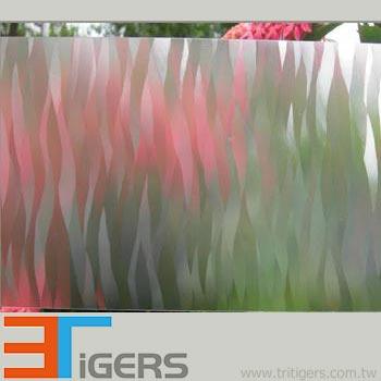 PVC decor window film in fire pattern