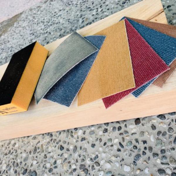 Sanding mesh block