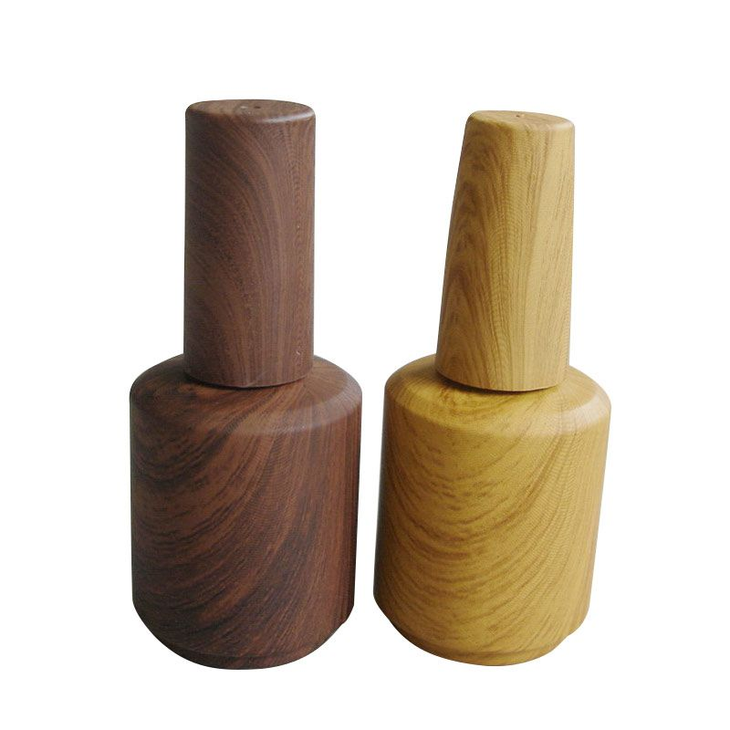 15ml UV/LED Gel Nail Polish Bottle With Wood Grain Design