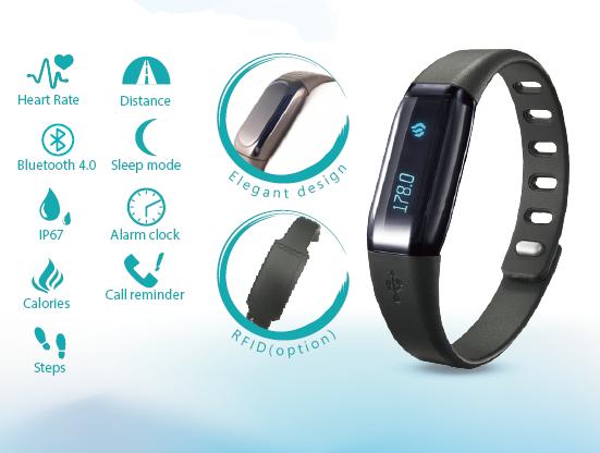 Heart Rate Smart Wristband