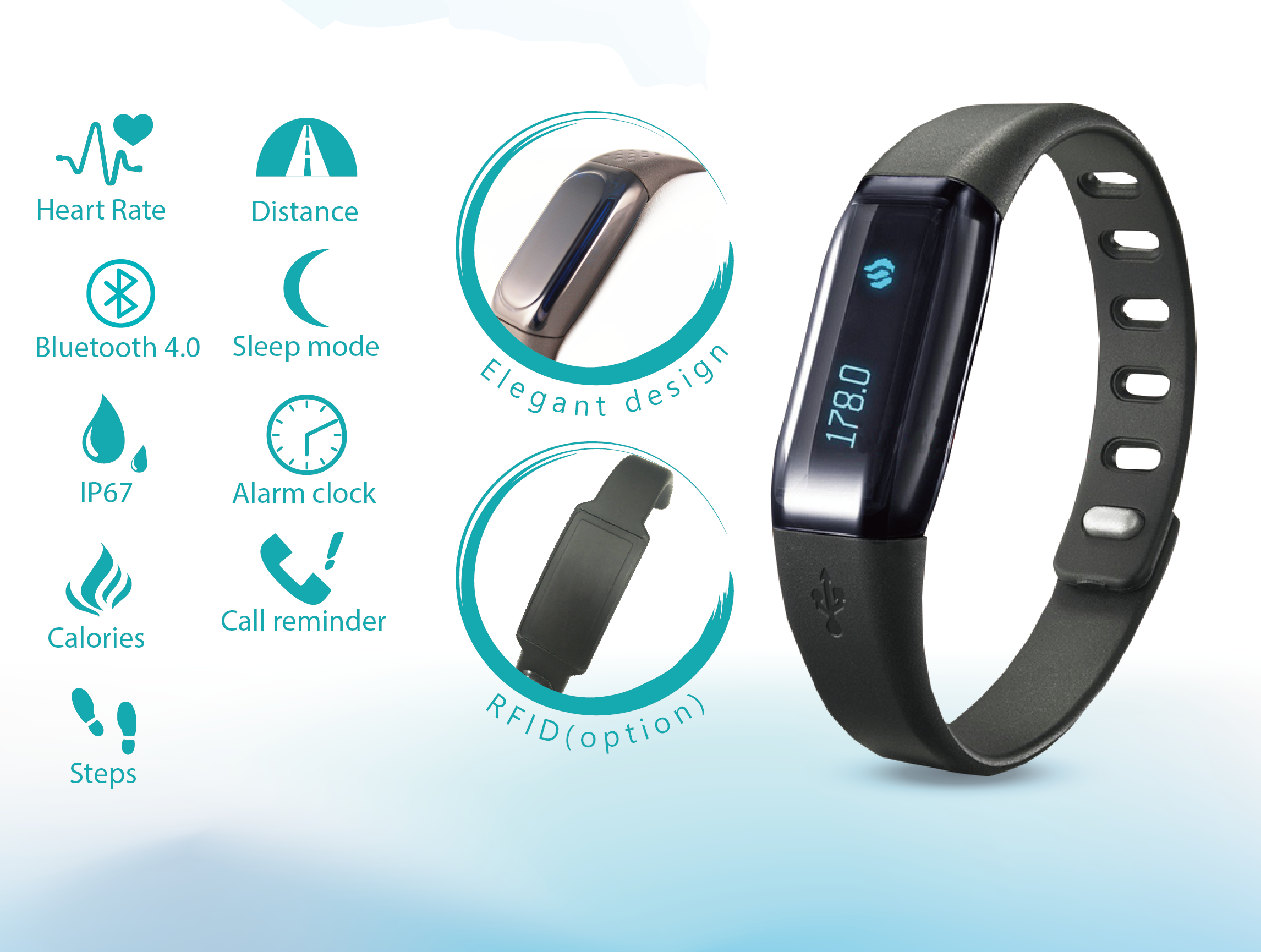 Heart Rate Smart Wristband