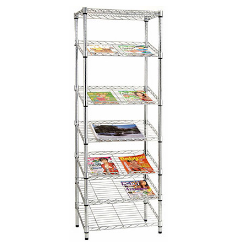 7-layer Wire Slanting Shelving