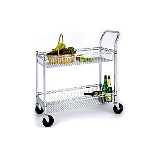 Two-Shelf Basket Cart