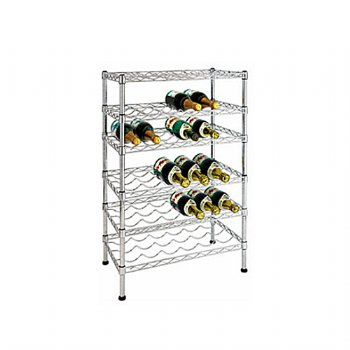Six-Tier Wire Wine Rack