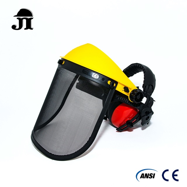 Wire Mesh Face Shield with Ear Muff 2 in 1 combo set